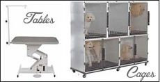 Cages, Grooming Arms, Hydraulic, Electric Tables