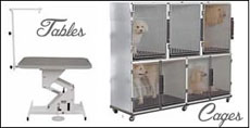 Groomer, Dog, Cat Tables, Cages, Posts